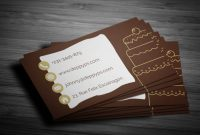 Free Cake Business Card in Cake Business Cards Templates Free
