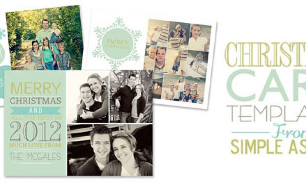 Free Christmas Card Templates throughout Free Christmas Card Templates For Photographers