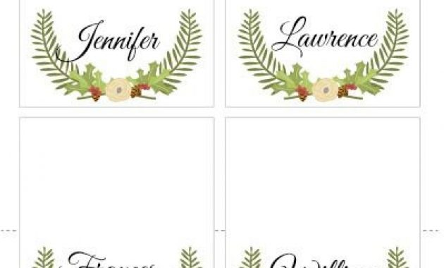 Free Christmas Printable Place Cards – Pinkwhen | Free throughout Christmas Table Place Cards Template