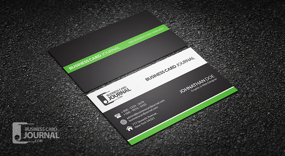 Free Clean & Professional Corporate Business Card Design in Professional Business Card Templates Free Download