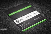 Free Clean & Professional Corporate Business Card Design Within Professional Name Card Template