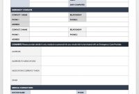 Free Contact List Templates | Smartsheet pertaining to Emergency Contact Card Template