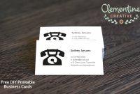 Free Diy Printable Business Card Template inside Call Card Templates