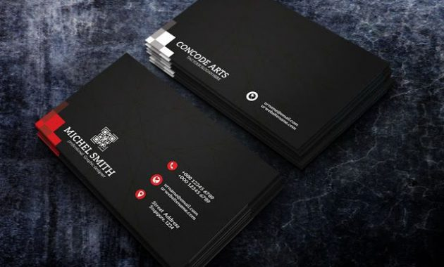 Free Download Black Color Professional Business Cards Vol within Professional Business Card Templates Free Download