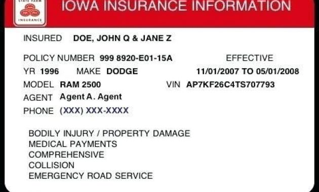 Free Fake Auto Insurance Card Template Telephone Number For throughout Fake Car Insurance Card Template