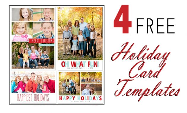 Free Photoshop Holiday Card Templates From Mom And Camera regarding Free Christmas Card Templates For Photographers
