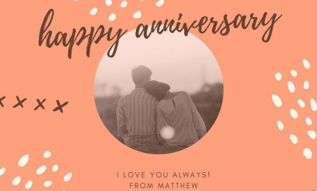 Free, Printable Anniversary Card Templates | Canva within Anniversary Card Template Word