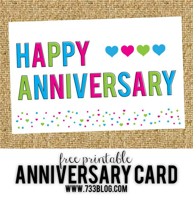 Free Printable Anniversary Cards – Inspiration Made Simple With Word Anniversary Card Template
