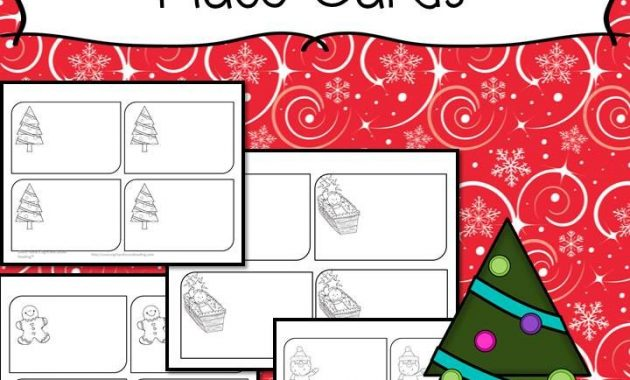 Free Printable Christmas Place Cards – Have The Kids Help pertaining to Christmas Table Place Cards Template