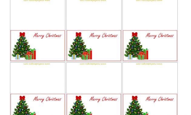 Free Printable Christmas Placecards – Folded | Free throughout Christmas Table Place Cards Template
