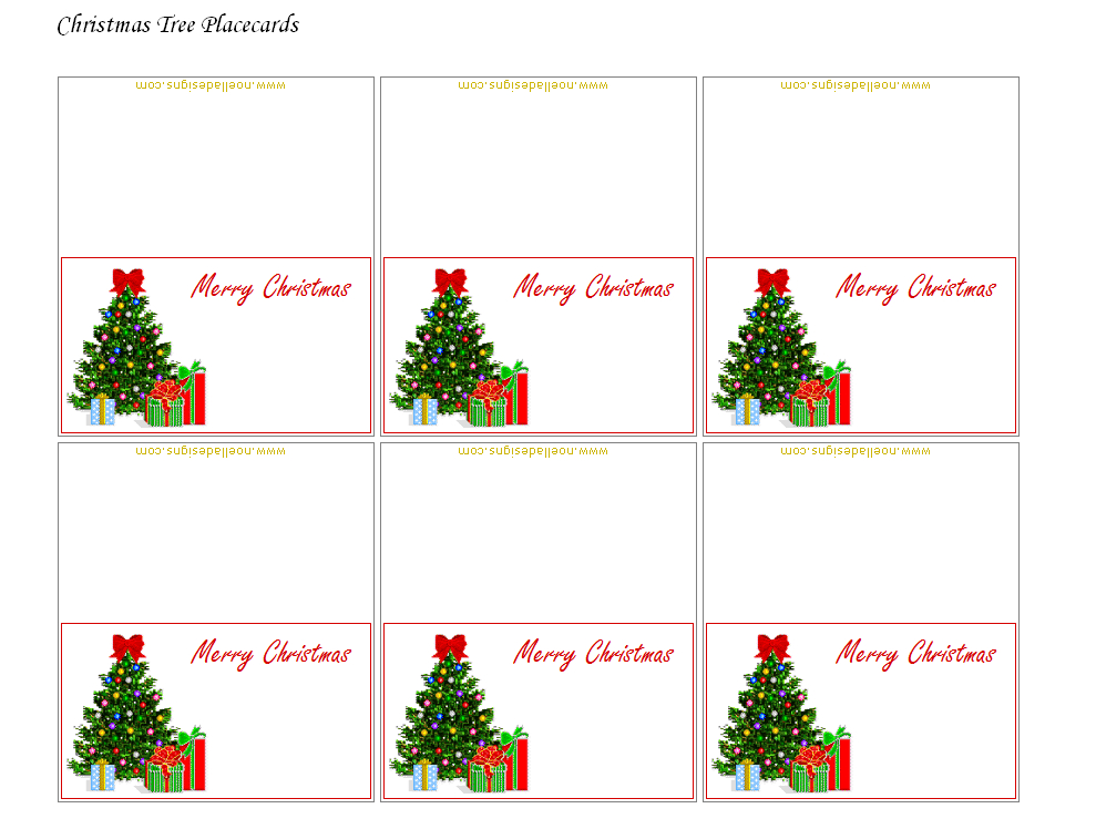 Free Printable Christmas Placecards - Folded | Free Throughout Christmas Table Place Cards Template