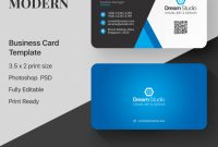 Free Psd | Blue And White Business Card For Psd Visiting Card Templates