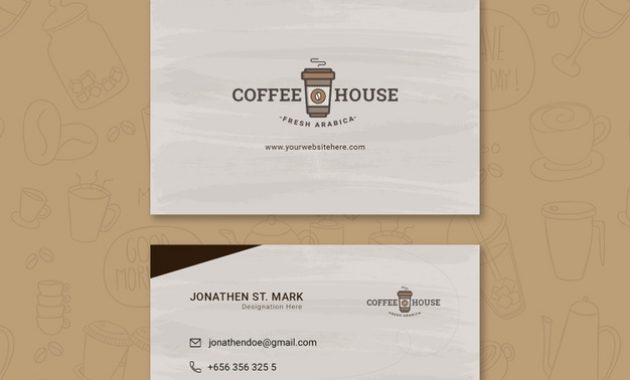 Free Psd | Coffee Shop Business Card Template throughout Coffee Business Card Template Free