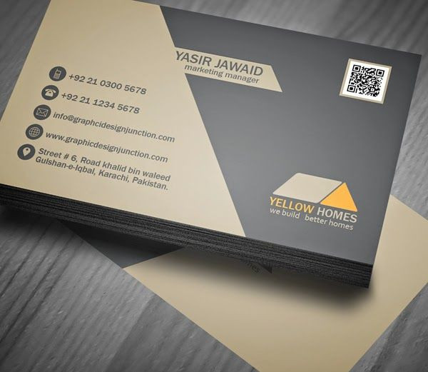 Free Real Estate Business Card Template (Psd) | Business Within Psd Name Card Template