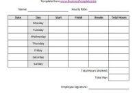 Free Sample Weekly Employee Time Sheet Template | Templates pertaining to Weekly Time Card Template Free