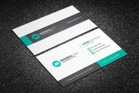 Free Subtle Geometric Corporate Business Card Template within Free Bussiness Card Template