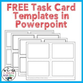 Free Task Card Templates In Powerpoint   Science Task Cards Regarding Task Cards Template