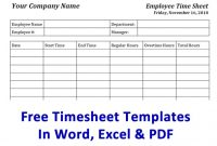 Free Timesheet Template & Time Card Template | Ontheclock with regard to Weekly Time Card Template Free