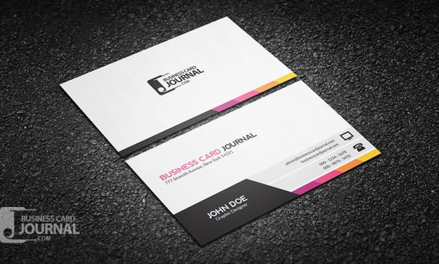 Free Unique & Modern Corporate Business Card Template intended for Call Card Templates
