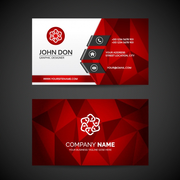 Free Vector | Business Card Template With Regard To Free Bussiness Card Template