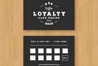 Free Vector | Cafe Loyalty Card Template With Elegant Style throughout Loyalty Card Design Template