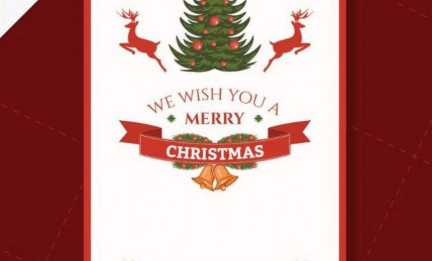 Free Vector   Cmyk Printable Christmas Card Template within Christmas Photo Cards Templates Free Downloads