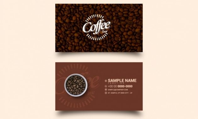 Free Vector | Coffee Business Card Template inside Coffee Business Card Template Free