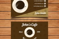 Free Vector | Coffee Business Card Template throughout Coffee Business Card Template Free