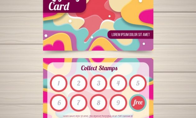 Free Vector | Colorful Loyalty Card Template With Flat Design within Loyalty Card Design Template