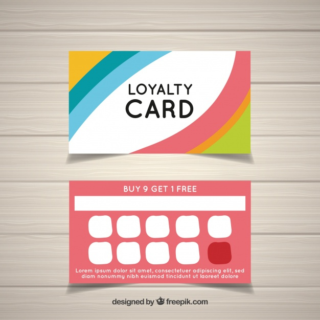Free Vector | Colorful Loyalty Card Template with regard to Loyalty Card Design Template