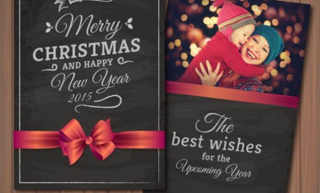 Free Vector | Editable Christmas Card With Photography Frame with Free Christmas Card Templates For Photographers