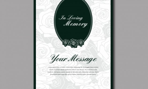 Free Vector | Funeral Card Template in Death Anniversary Cards Templates