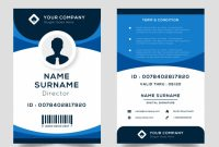 Free Vector | Id Card Template with regard to Portrait Id Card Template