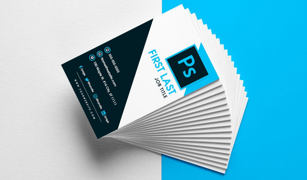Free Vertical Business Card Template In Psd Format Pertaining To Psd Name Card Template