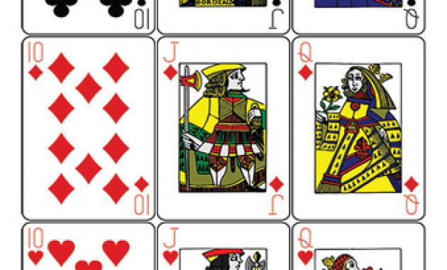 Guyenne Classic Deck Of Playing Cards Printable Template for Free Printable Playing Cards Template
