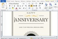 How To Create A Printable Anniversary Gift Certificate In Word Anniversary Card Template
