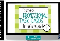 How To Engage Your Class Using Free Task Card Templates for Task Cards Template