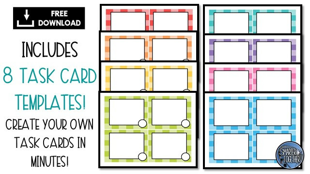 How To Engage Your Class Using Free Task Card Templates Regarding Task Card Template