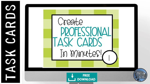 How To Engage Your Class Using Free Task Card Templates With Regard To Task Card Template