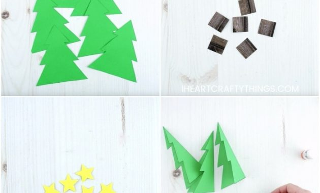 How To Make A 3D Christmas Card for 3D Christmas Tree Card Template