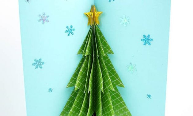 How To Make A 3D Christmas Card with regard to 3D Christmas Tree Card Template