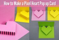 How To Make A Pixel Heart Pop Up Card For Valentine's Day pertaining to Pixel Heart Pop Up Card Template