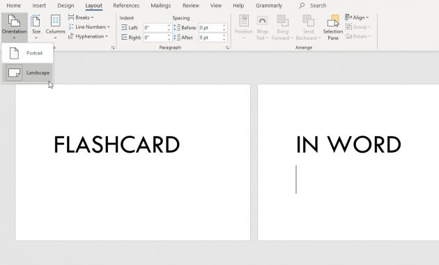 How To Make Flashcards On Word In Word Cue Card Template