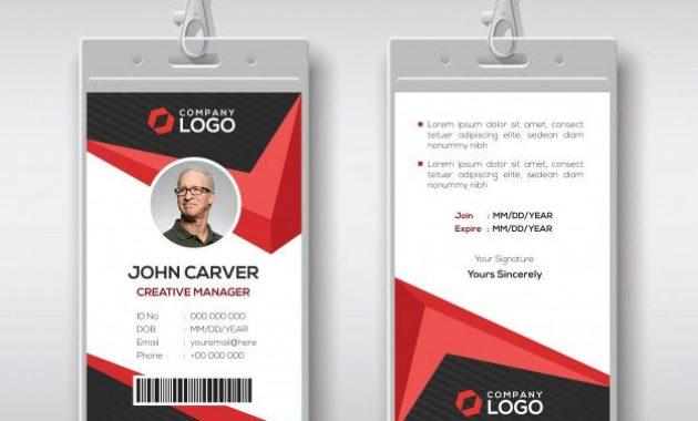 Id Card Template | Create Business Cards, Id Card Template with Media Id Card Templates