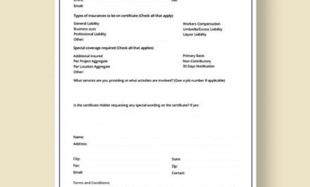 Insurance Certificate Template – 10+ Free Word, Pdf intended for Proof Of Insurance Card Template