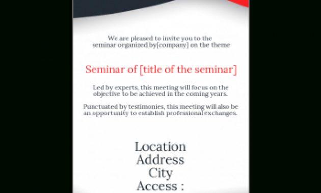 Invitation To A Seminar Template – Printable Card inside Seminar Invitation Card Template