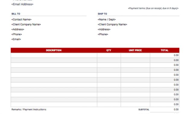 Invoice Templates | Download, Customize & Send | Invoice Simple inside Credit Card Bill Template