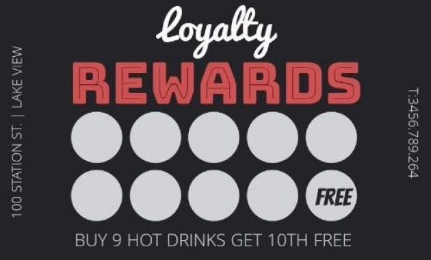Loyalty Card Graphic Design Template | Loyalty Card Design in Loyalty Card Design Template