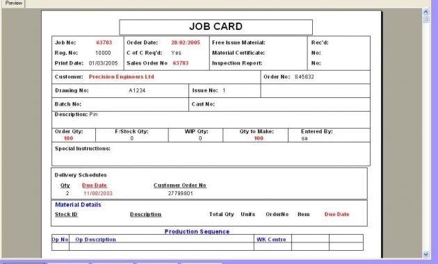 Maintenance Repair Job Card Template Excel   Excel124 within Maintenance Job Card Template