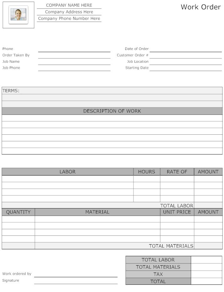 Maintenance Work Order Form   Job Cards, Maintenance Jobs in Maintenance Job Card Template